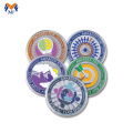 Custom enamel colored silver coins