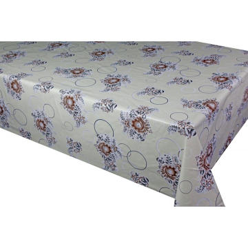 Elegant Tablecloth with Non woven backing Red Vinyl