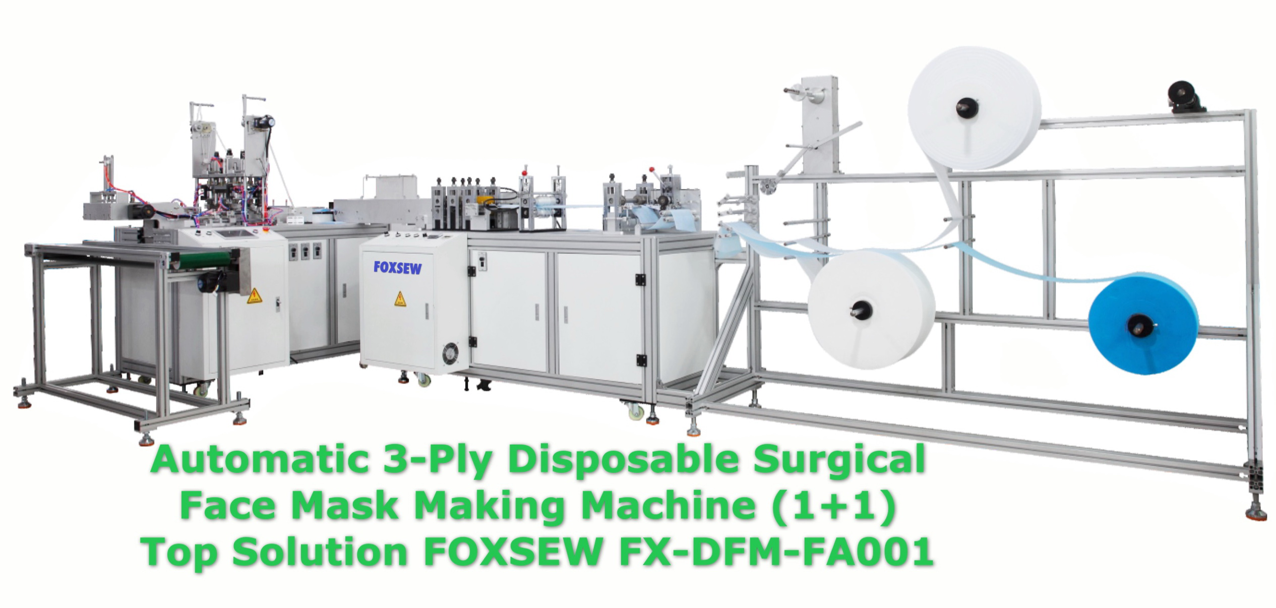 Automatic 3-Ply Disposable Surgical Face Mask Making Machine -1