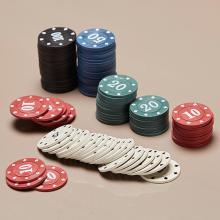 100 Pcs Texas Poker Chips Professional Las Vegas Game Token Casino Poker Tour Poker Chips Set Digital Chips Blackjack 4