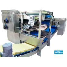 Reciprocating horizontal laminator baking