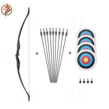 Simple bow and arrow set entry-level recurve bow 30/40 pounds optional archery entertainment novice professional bow