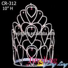 Fashion Large Rhinestone Elsa Crown For Dinner