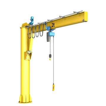 Fixed floor mounted jib crane for sale