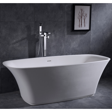 Acrylic Small Round Bathtub Solid Surface Freestanding