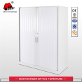Middle height roll door cabinet with garden pot