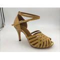 Gold latin shoes for girls CA