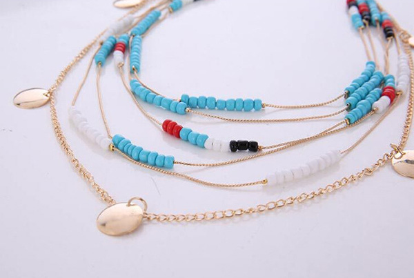 Multi Strand Women Chain Necklace