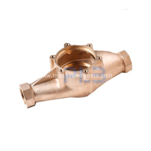 Lead free bronze or brass AWWA water meter body
