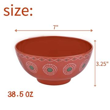 "7"" Melamine Deep Bowl Set of 6"