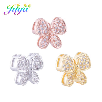 Juya DIY Handicraft Findings Decorative Butterfly Charm Connectors Accessories For Beadwork Natural Stones Beads Jewelry Making