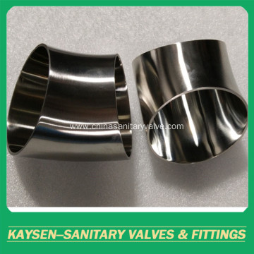 AS1528 Sanitary elbow 45 degree long welded
