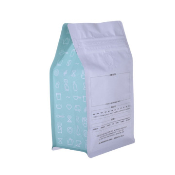 Plastic cafe bag with pocket zipper and valve