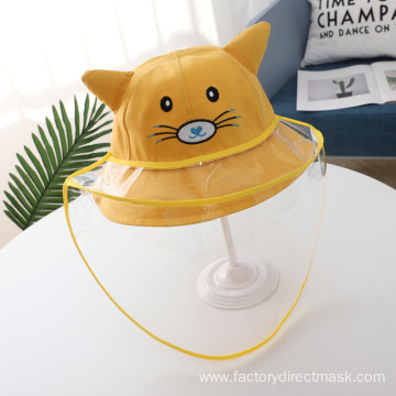 Yellow Cat Anti-droplet Hat for Children