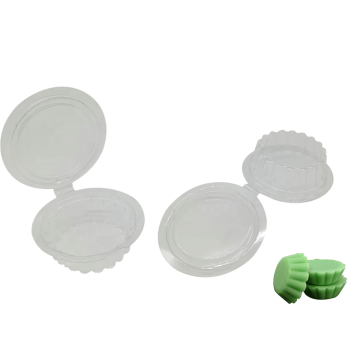 Transparent Blister Round Wax Melt Packaging Box