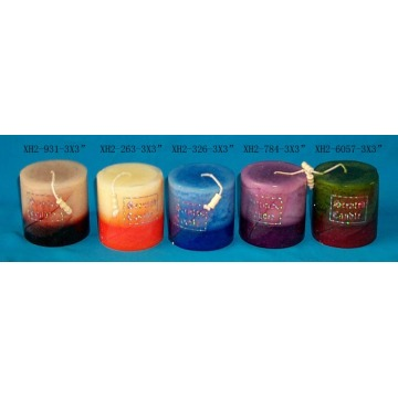 scented craft pillar candle Color Scented Candles
