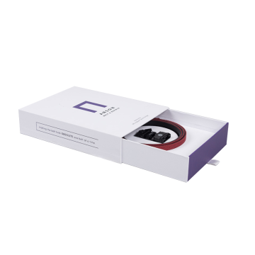 Drawer White Printed Belt Packaging Smart Gift Box