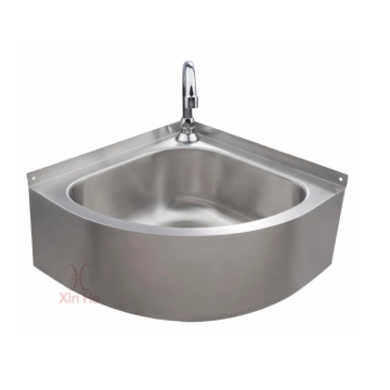 Triangular kitchen sink Stainless steel