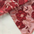 Chiffon Laser Cut Embroidery Fabric On Poly Mesh