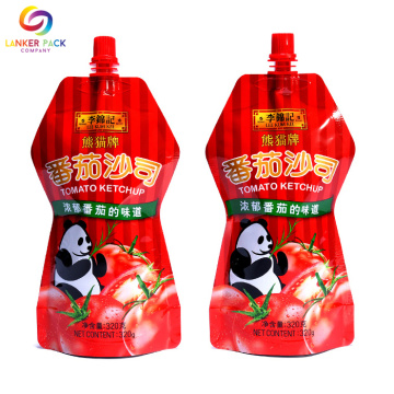 Custom Printed Plastic Liquid Packaging Spout Pouches
