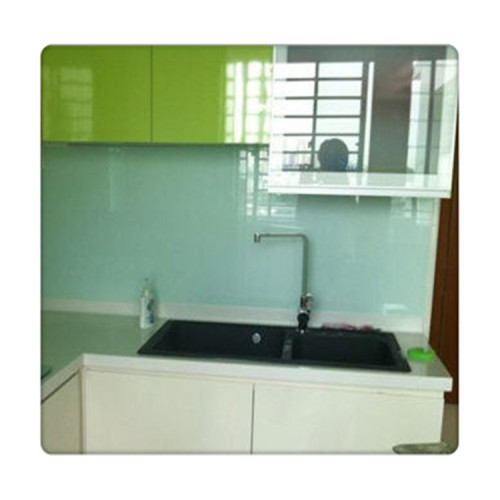 Back Painted Glass Wall Panel For Kitchen Splashback
