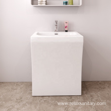Wholesale hotel square white luxury bathroom wash basin