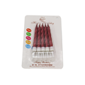 Packing skinny cake decoration birthday spiral candles