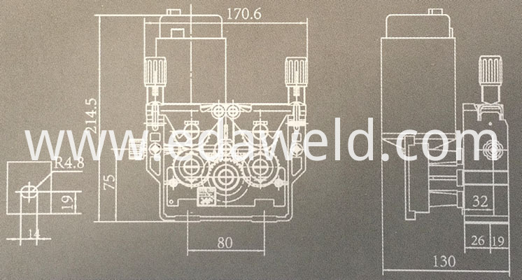 80W Double Drive Wire Feeder Assembly