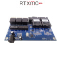 5 PCS Fast Erhetnet 2F3E 10/100M Ethernet Switch 2 Fiber Port SC 20KM 3X100M UTP RJ45 Fiber Optical Switch PCBA Board