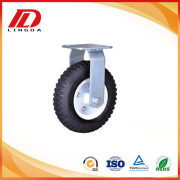 8'' heavy duty rigid caster with pneumatic wheel