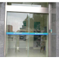 Magnetic automatic sliding door with glass