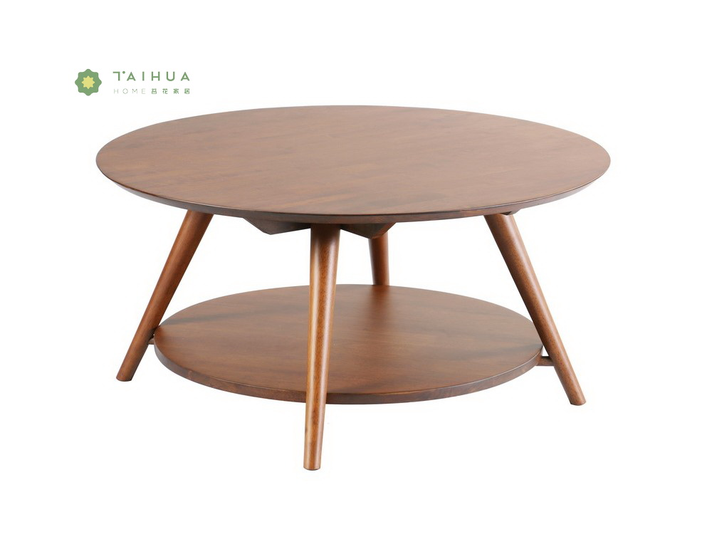 Round Solid Wood Coffee Table