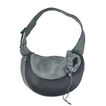 Black XLarge PVC and Mesh Pet Sling