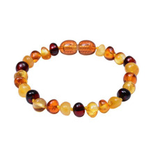Natural baltic amber teething bracelet for baby
