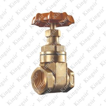 FORGE BRASS GATE VALVE WITH SAND POLISH