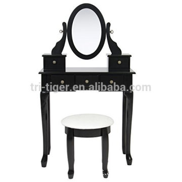 Bathroom Vanity Table Jewelry Makeup Desk Bench Drawer Hair Dressing Organizer
