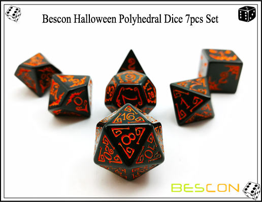 Bescon Halloween Polyhedral Dice 7pcs Set