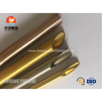 Seamless Brass Low Fin Tube ASME SB111 C44300 For Condenser and Oil Cooler