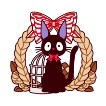 JiJi Black Cat Kiki's Delivery Service hard enamel pin badge brooch