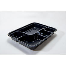 Compartment Disposable PS Plastic Bento Box With Lid