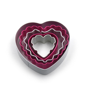 Stainless Steel Heart Shape Color Coated Cookie Cutter