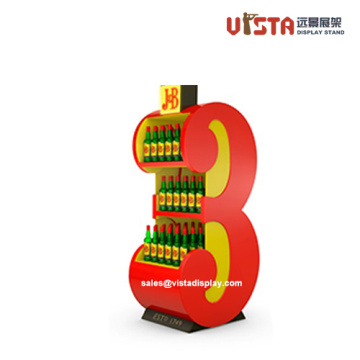 Customized Store Wooden LIquor Display Fixtures
