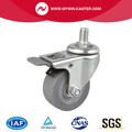 Mini 2.5 35Kg Threaded Brake TPE Caster