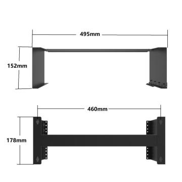 19-Inch Hinged Network Wall Mount Equipment Bracket