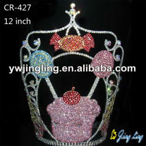 10''Rhinestone Cupcake Icecream Pageant Crowns