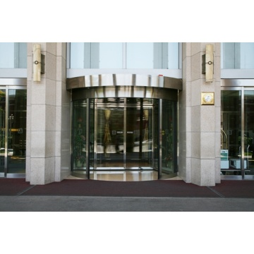 Two-Wing Automatic Revolving Doors Large Entrance