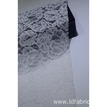 Nylon Cotton White Big Flower Pattern Lace Fabric