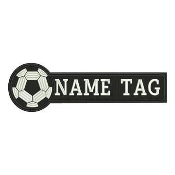 High quality 3d soccer series embroidery patch