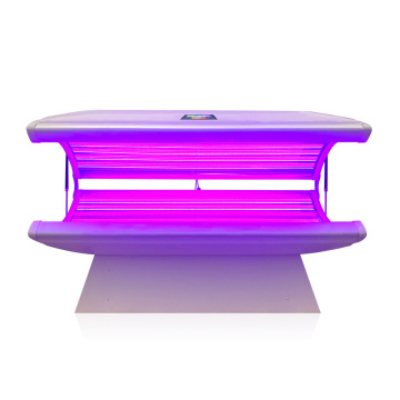 Led light tanning bulb in home tanning beds