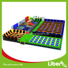 CE approved high quality rectangular trampoline park for sale
